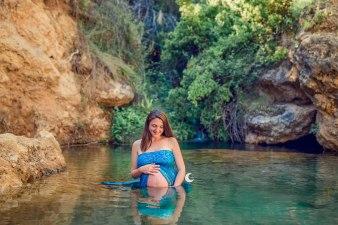 embarazo en el río, lunalupe fotografía valencia