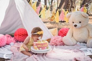 sesión de fotos smash cake valencia