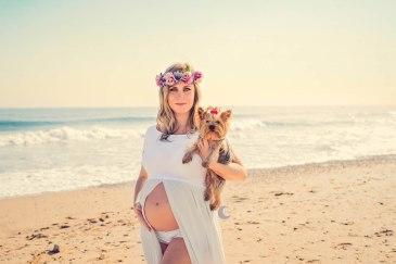 fotografía de embarazo en el saler, valencia