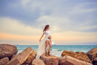 embarazo en la playa, valencia, Lunalupe Fotografía