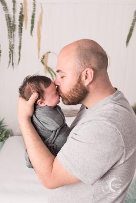 sesión de bebé de un mes en estudio, valencia